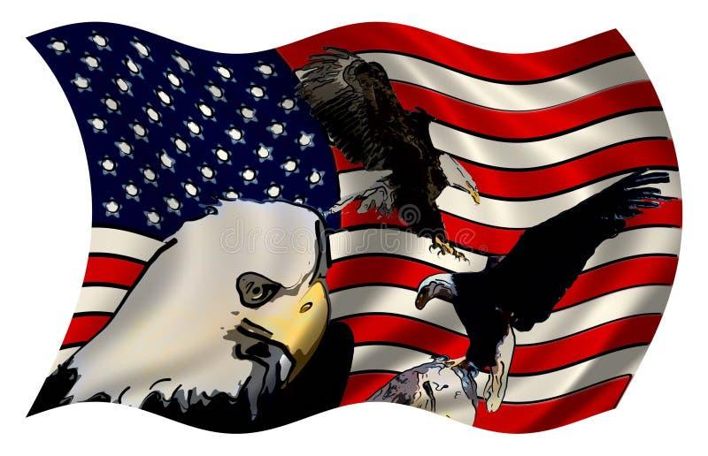 Stylized amerikanska flagganörnar