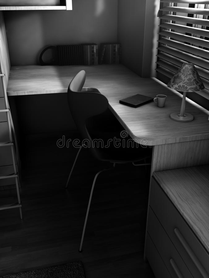 Stylized Black And White Interior royalty free illustration