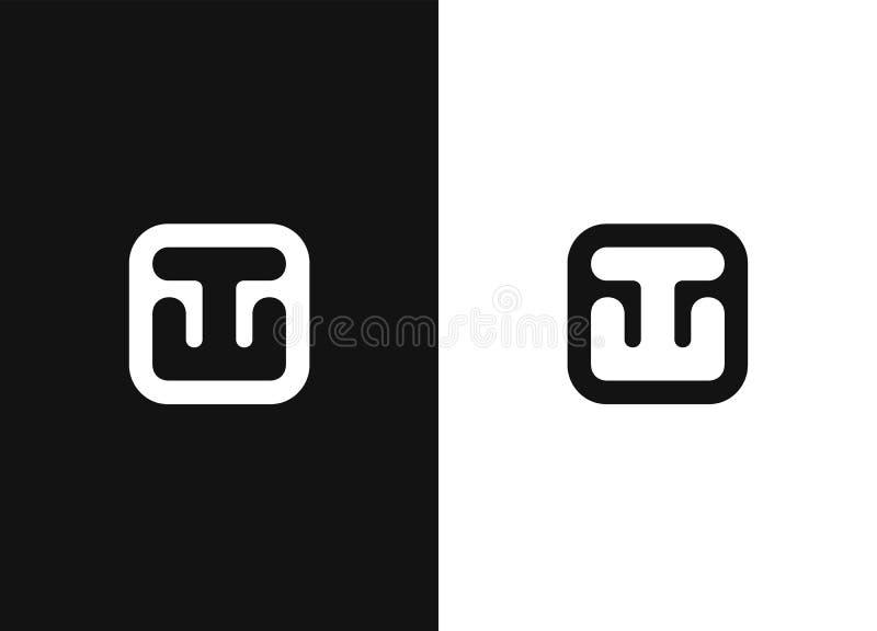Stylized black and white ship anchor. Universal icon. Stylized black and white ship anchor in square rounded shape. Nautical sign, symbol. Universal icon. Simple stock illustration