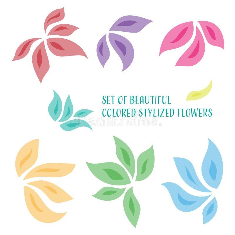 Stylized blommor stock illustrationer