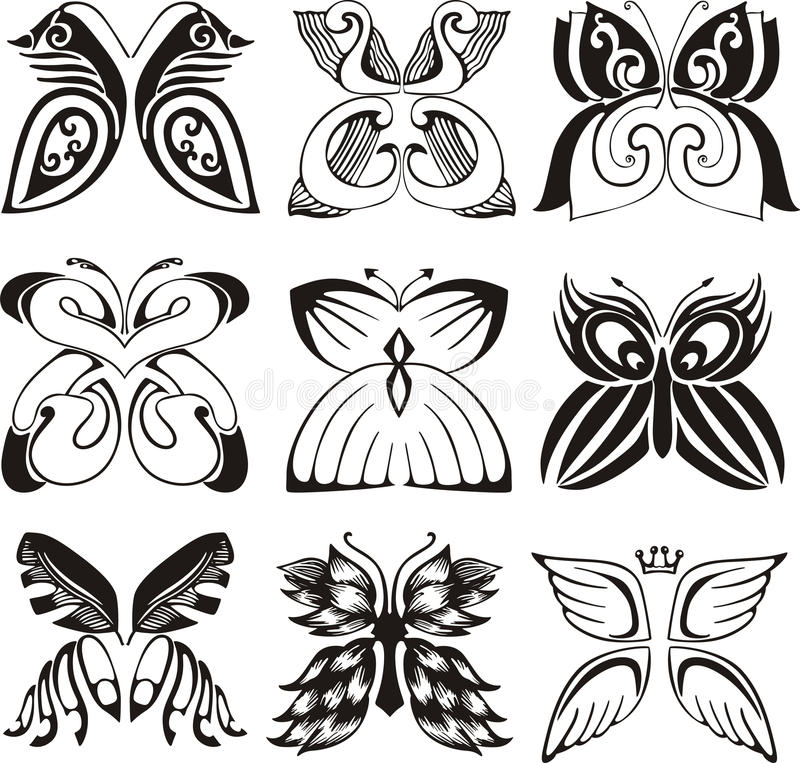 Download Stylized butterflies stock vector. Illustration of stylized - 27632957