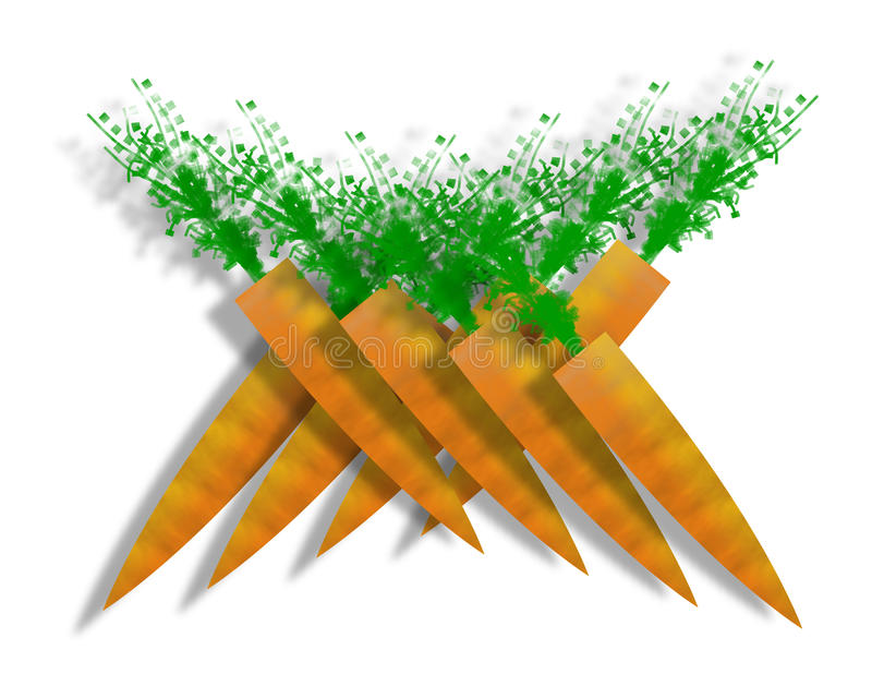 Stylized Carrots Royalty Free Stock Photos
