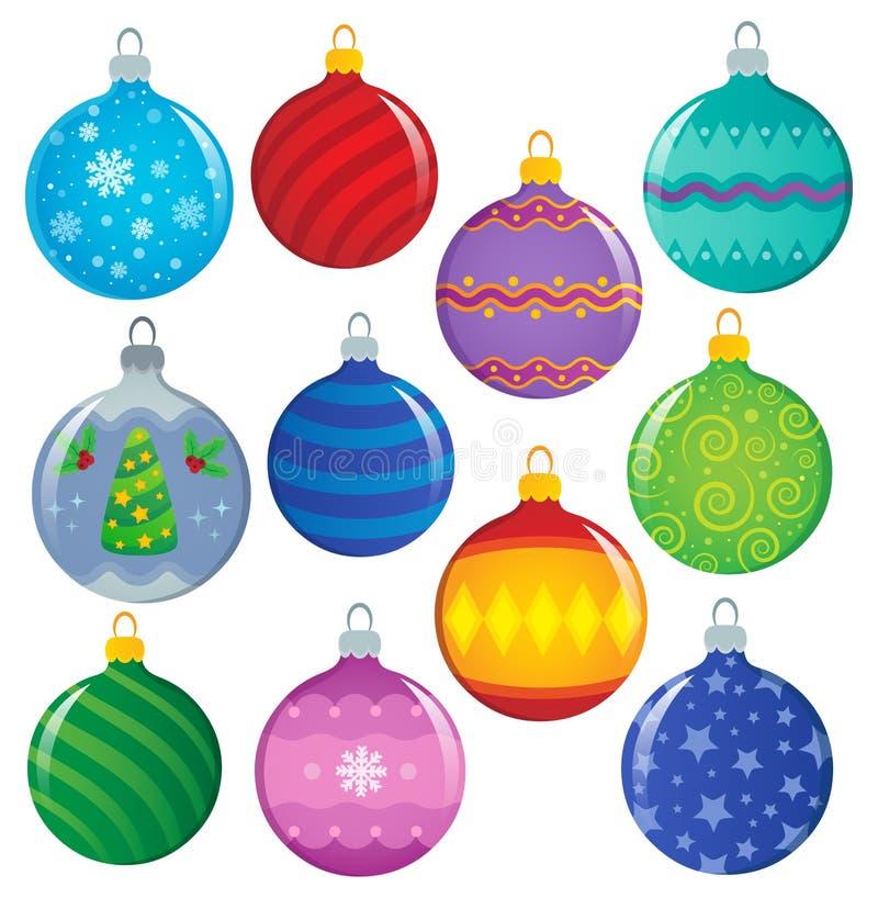 Free Stylized Christmas Ornaments Theme Set 1 Stock Images - 165130234
