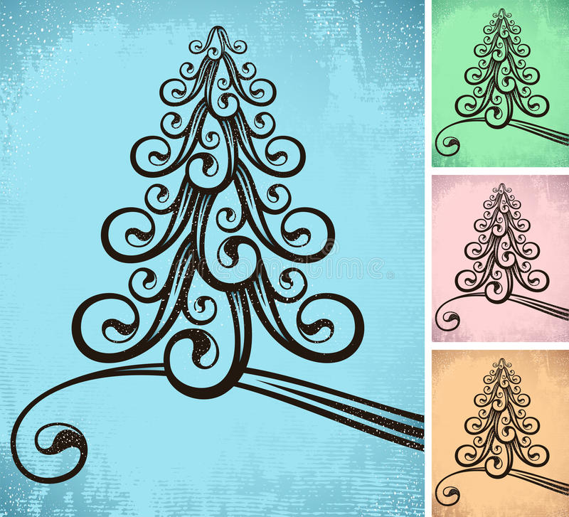 Stylized Christmas Tree Stock Photography