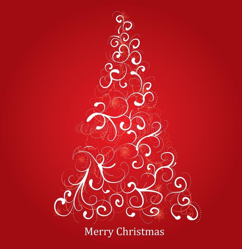 Stylized Christmas tree vector illustration