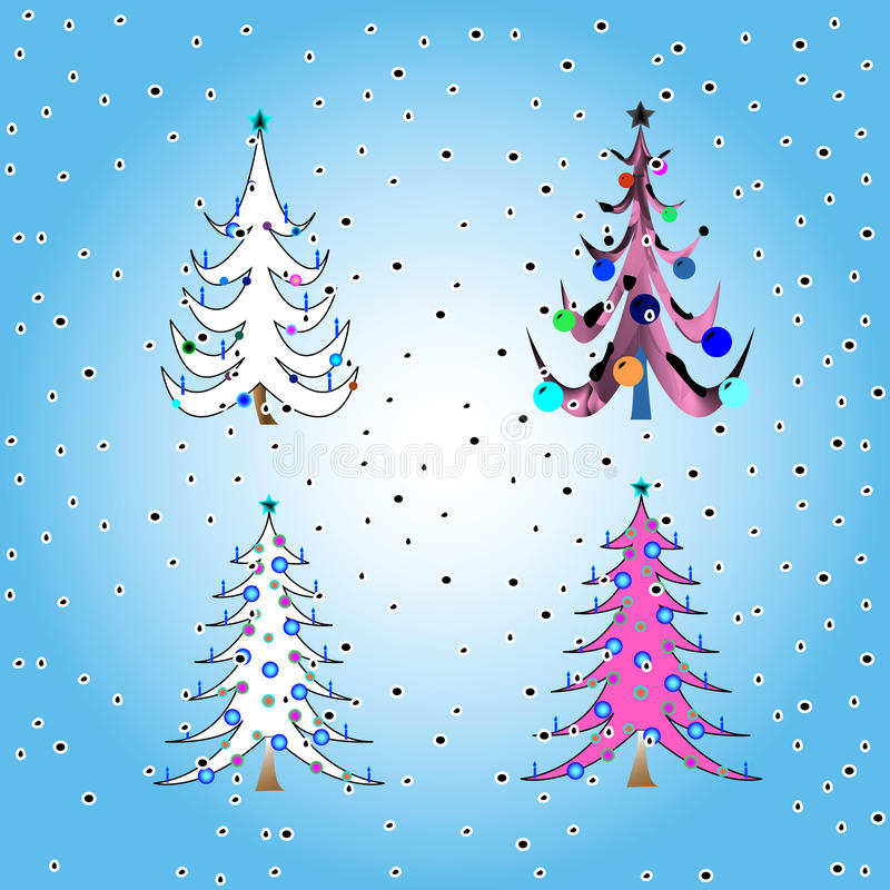 Download Stylized christmas trees stock vector. Image of january - 11734496