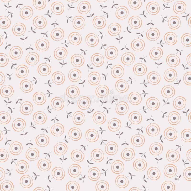 Free Stylized Circle Flower Seamless Background Pattern Stock Photo - 17079460