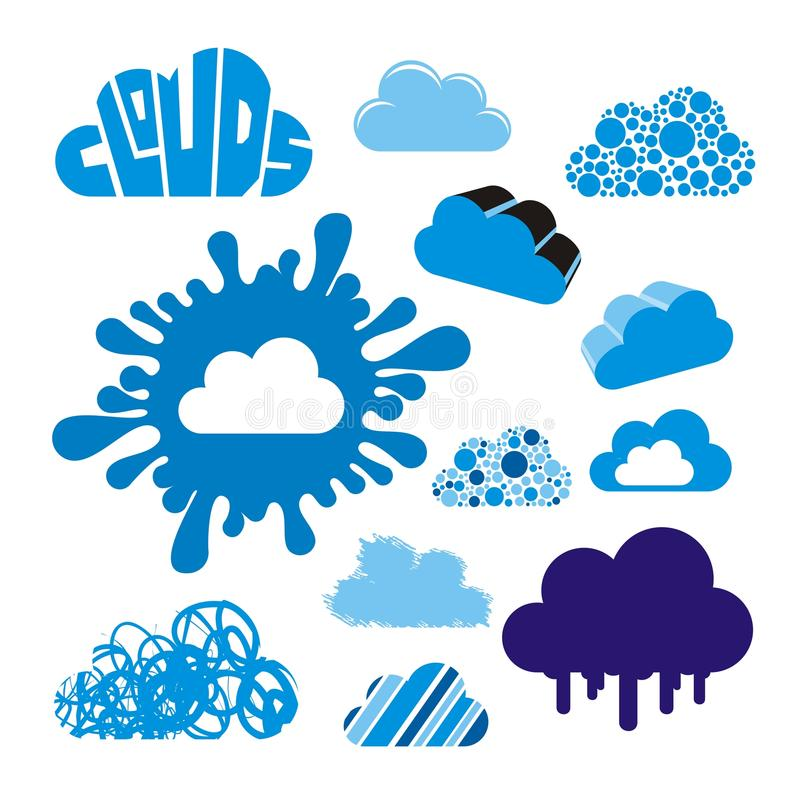 Download Stylized clouds collection stock vector. Image of natural - 22843778