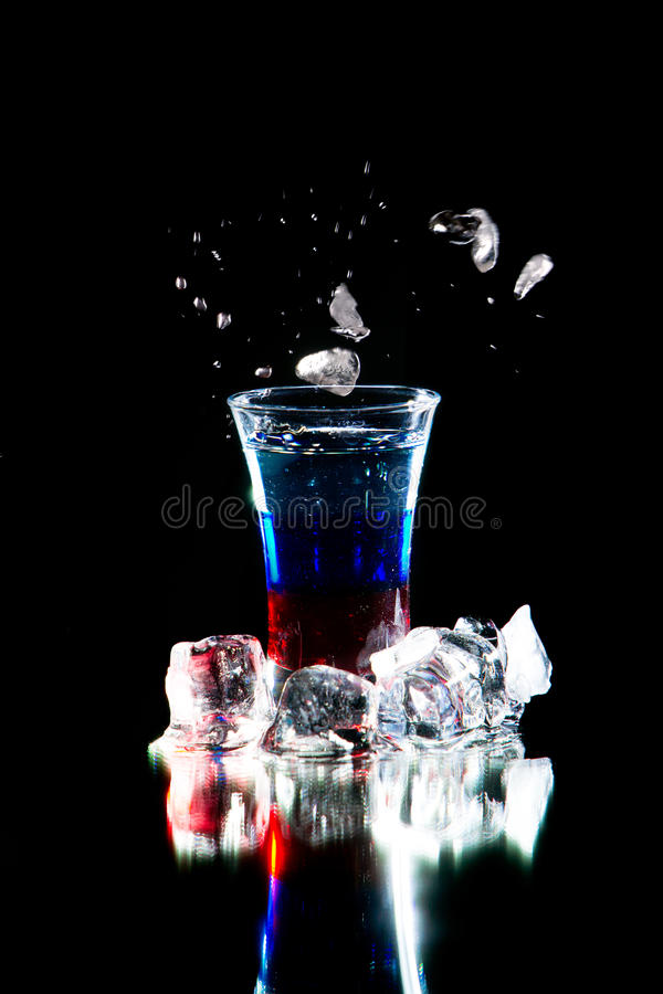 Stylized cocktail royalty free stock images