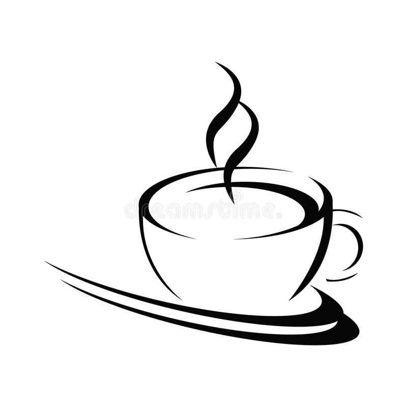 Stylized coffee cup vector illustration