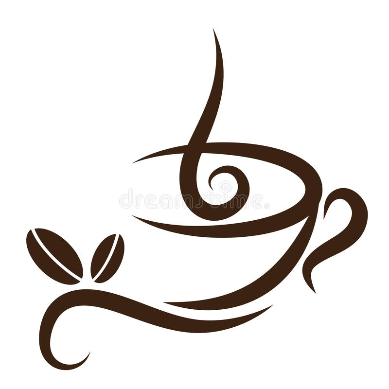 Stylized Coffeecup vector illustration