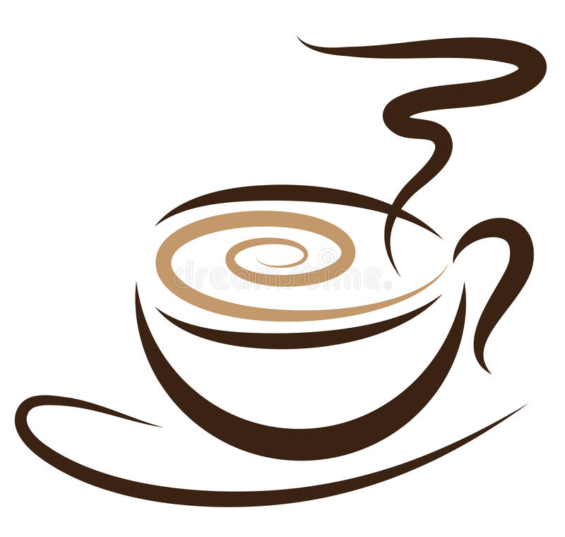 Download Stylized Coffeecup stock vector. Image of logo, time - 12749403