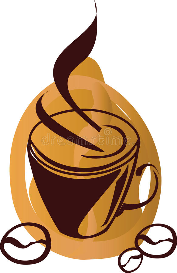 stylized coffekopp royaltyfri illustrationer