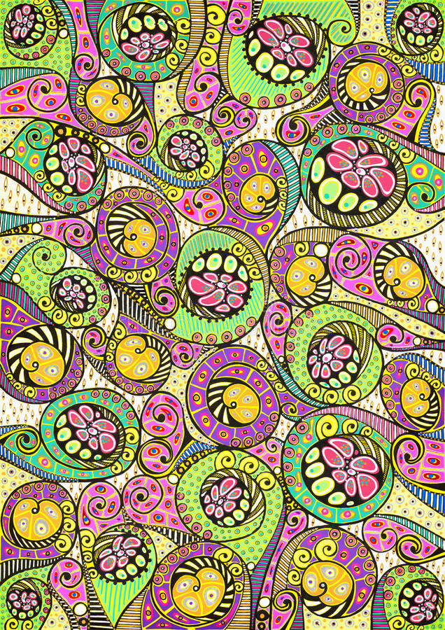 Stylized colorful natural pattern royalty free stock photography
