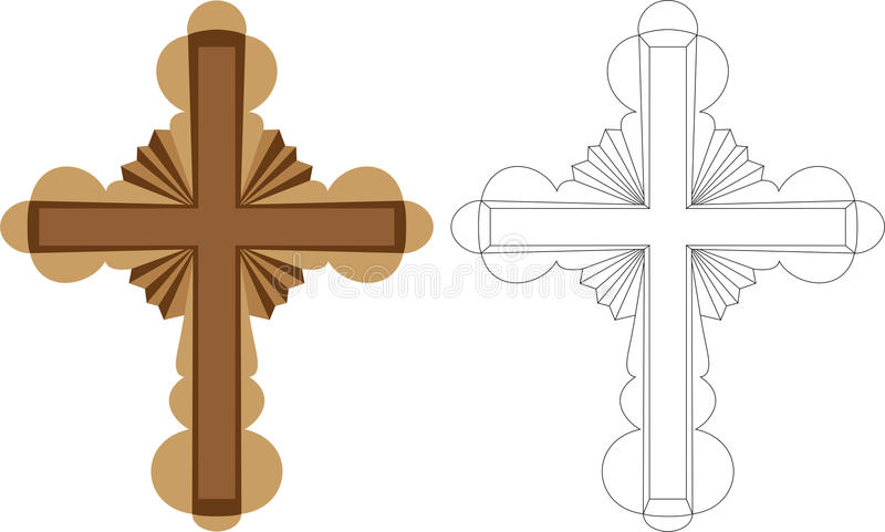 Download Stylized Cross stock vector. Illustration of deco, catholicism - 14780316