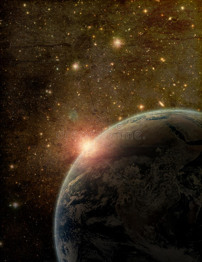 Download Stylized Earth And Space Artistic Image Stock Illustration - Illustration of dark, artistic: 21976557