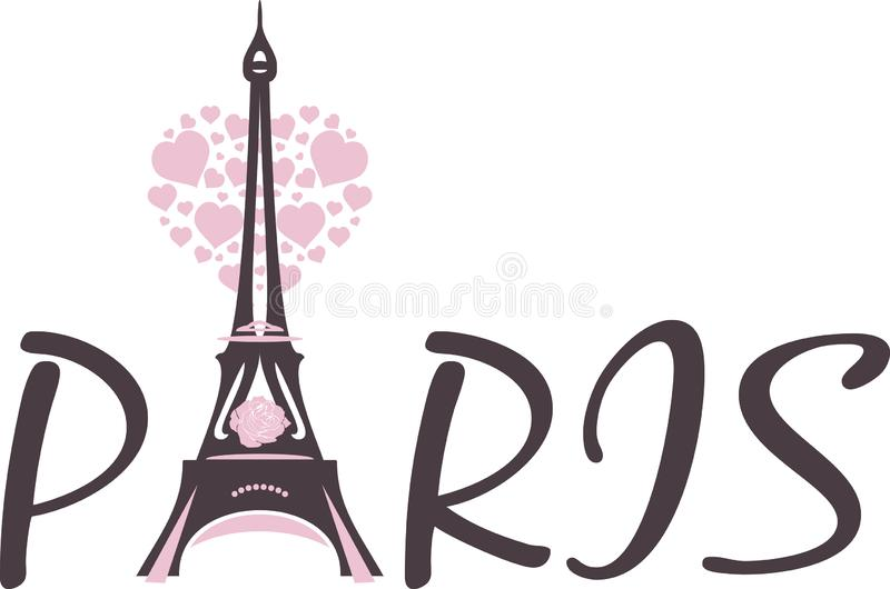 Stylized Eiffel tower for design royalty free stock photography