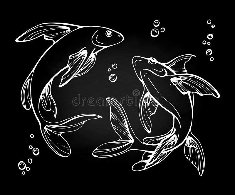 Stylized fishes. vector illustration