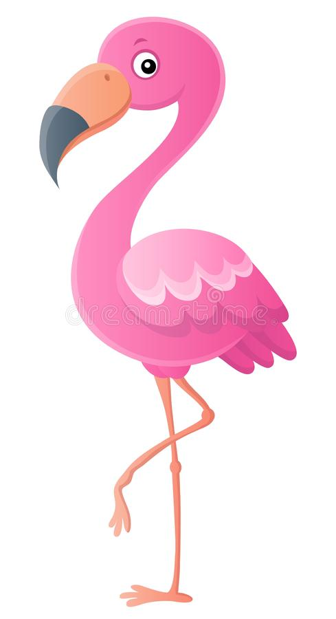 Stylized flamingo theme image 1 stock illustration