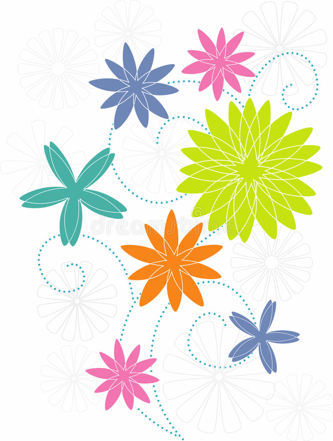 Stylized Flower Motif Royalty Free Stock Images