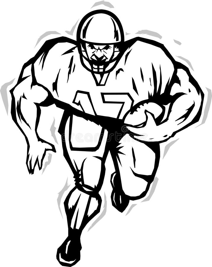Download Stylized Football Player Royalty Free Stock Photo - Image: 28241635