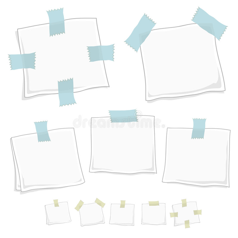 Free Stylized Graphic Note Posts Royalty Free Stock Image - 5628896
