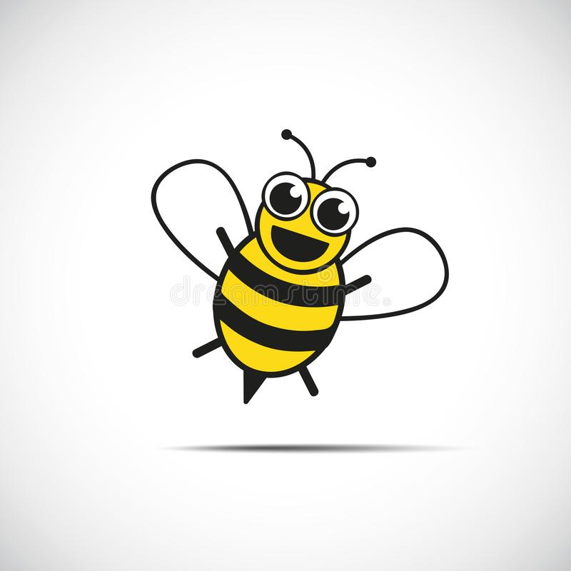 Stylized happy little bee royalty free illustration