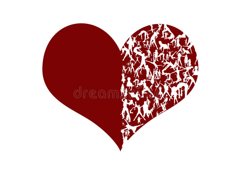 Download Stylized heart stock illustration. Image of pulse, active - 12160191