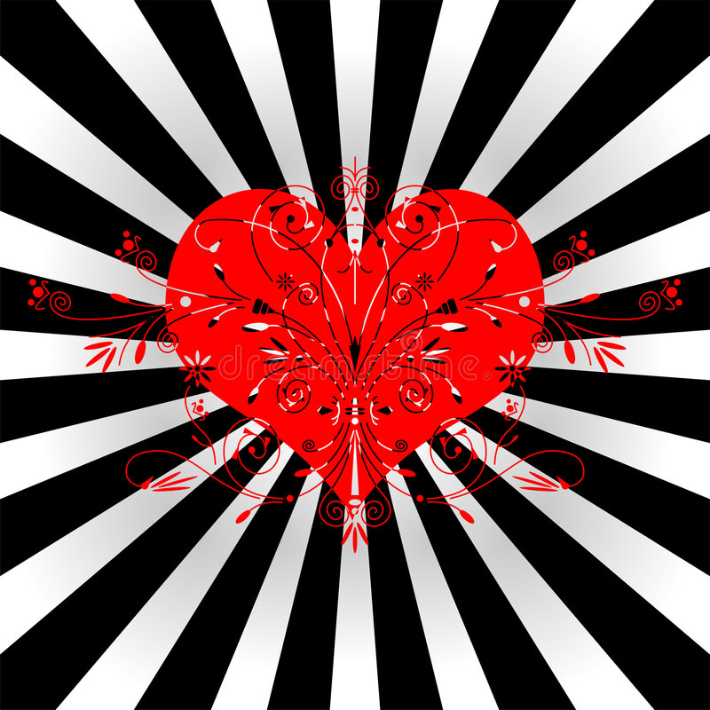 Stylized Heart Royalty Free Stock Images