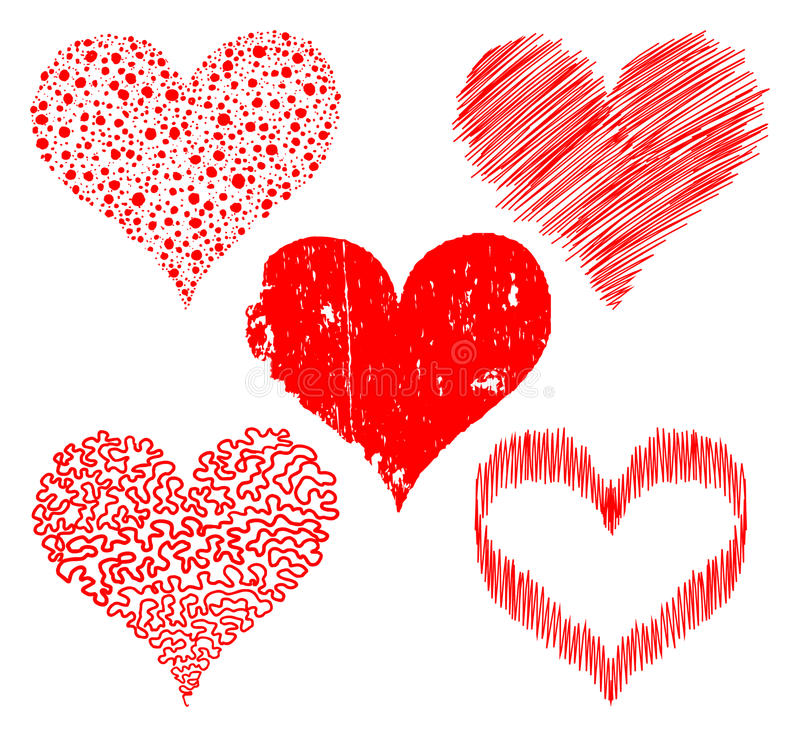 Download Stylized hearts stock vector. Illustration of lovely - 12203555