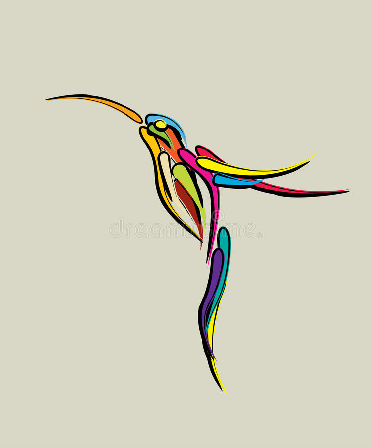 Download Stylized Humming Bird Stock Images - Image: 28523344
