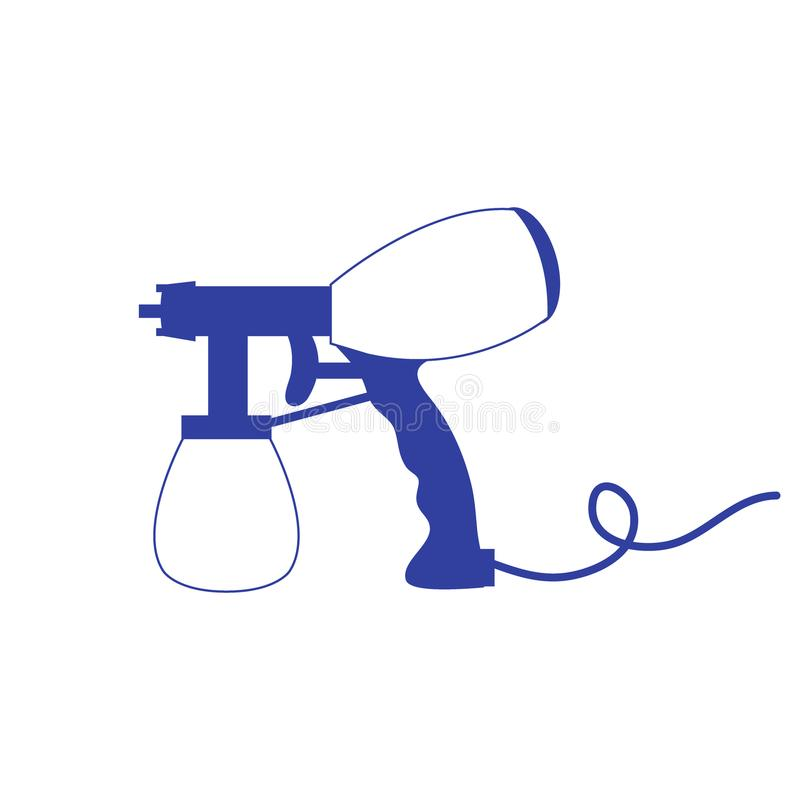 Stylized icon of a colored airbrush. On a white background royalty free illustration