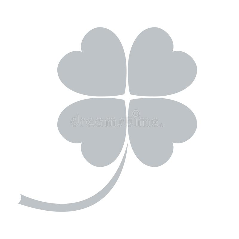 Stylized icon of a colored clover leave on a white background. Vector. Stylized icon of a colored clover leave on a white background royalty free illustration