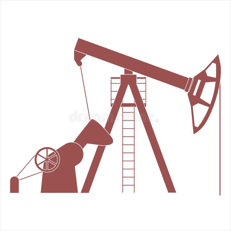 Stylized icon of the equipment for oil production. On a white background vector illustration
