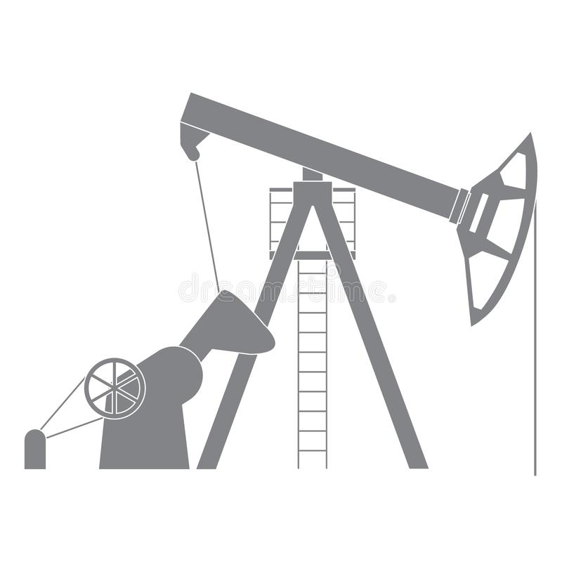 Stylized icon of the equipment for oil production. On a white background royalty free illustration