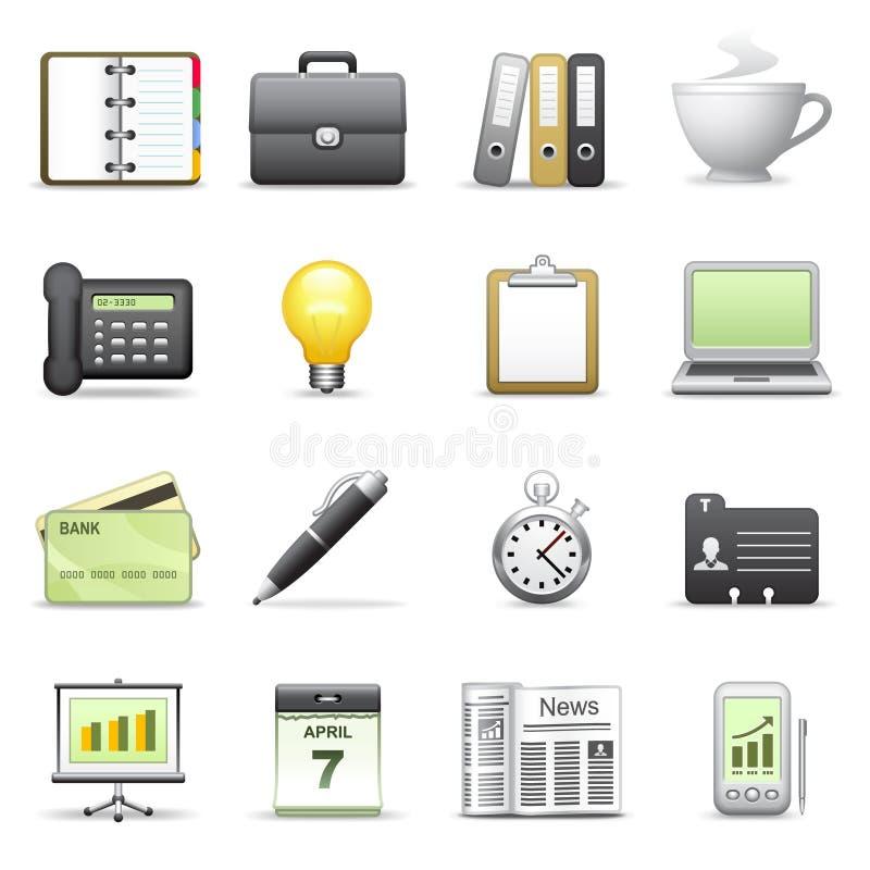 Stylized icons. Business. stock photo