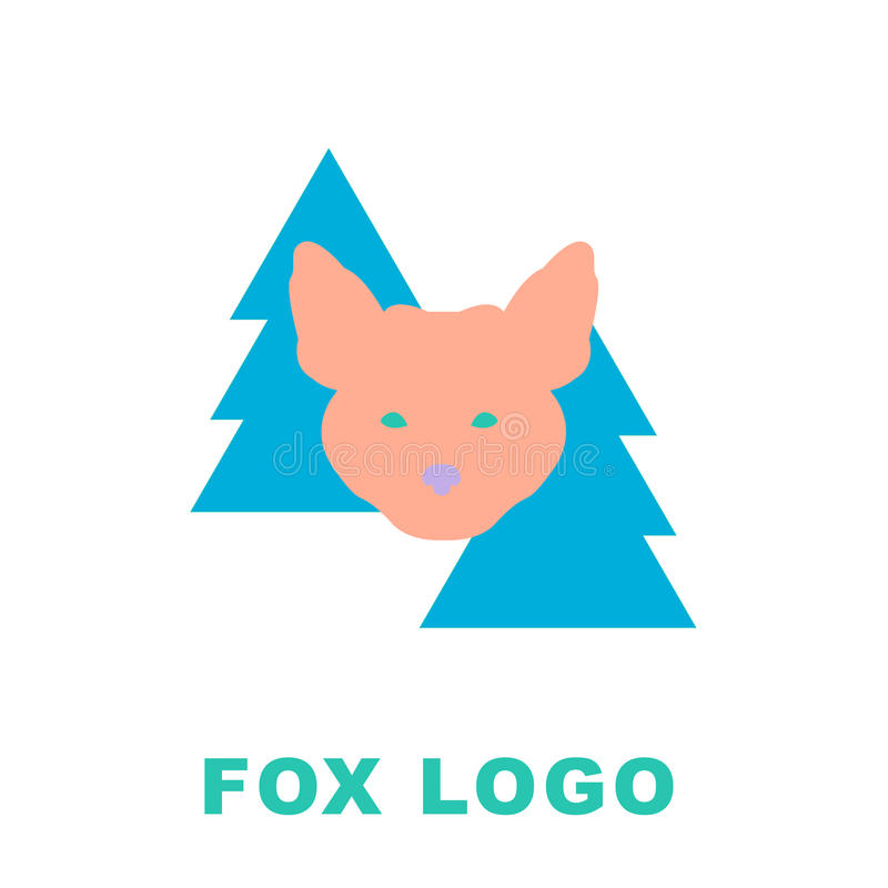 Stylized Illustration Of The Fox In Woods Can Be Used As A Logo
