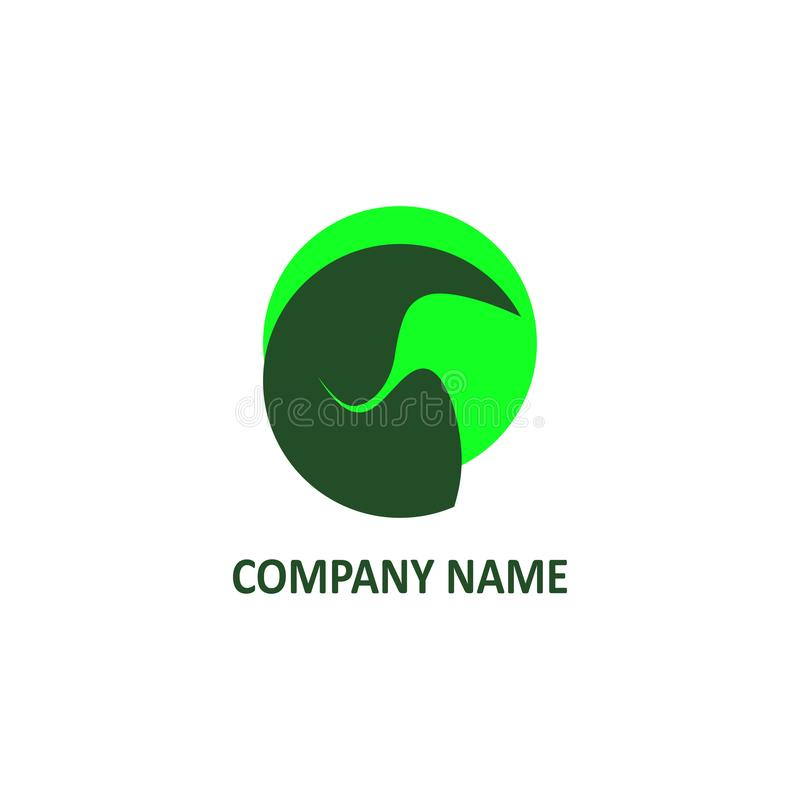 Stylized image of an elephant`s head. Logo for the company. stock photo