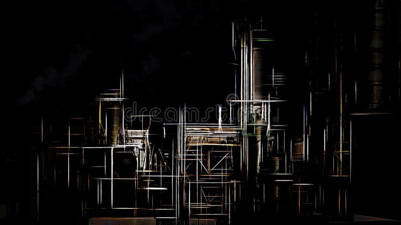 Stylized industrial facilities royalty free stock photography