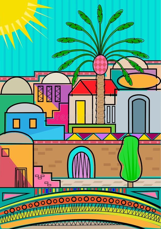 Stylized Jerusalem vector illustration
