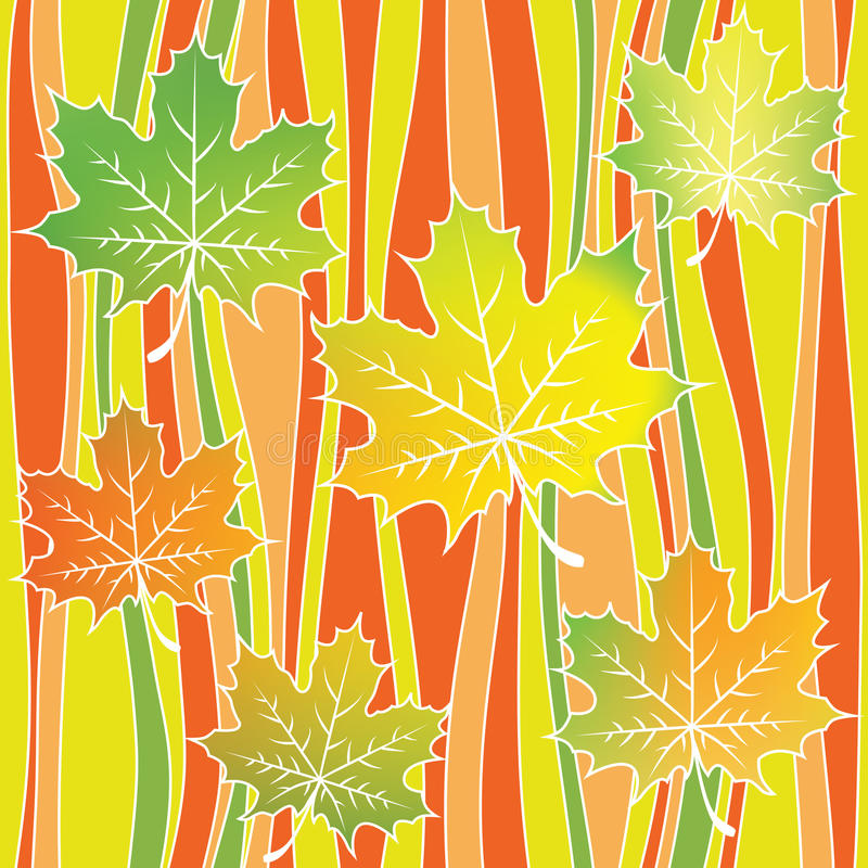 Stylized Leaves On Background Interior Design Wallpaper Vector Seamless Pattern Modern Graphic