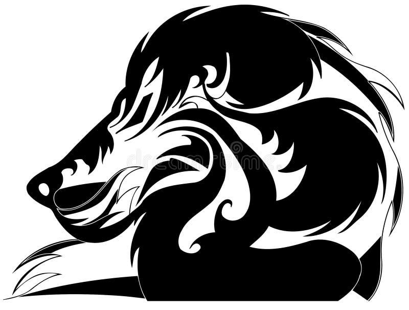 Stylized lion vector illustration
