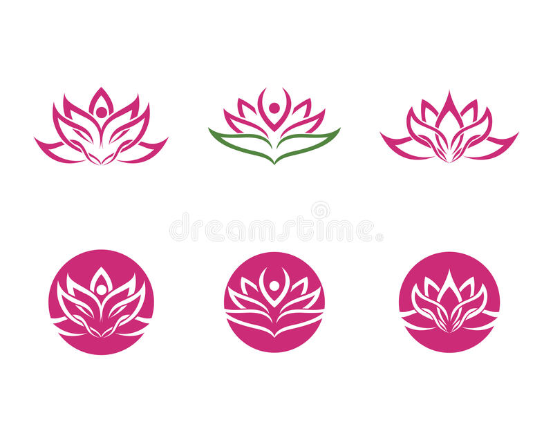 Abstract Flower Icons Stock Vector: Stylized Lotus Flower Icon Vector Background Stock Vector