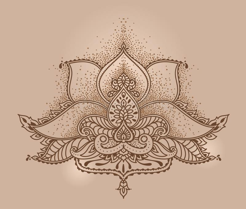 Stylized lotus flower in indian mehndi style stock vector download stylized lotus flower in indian mehndi style stock vector illustration of folk illustration mightylinksfo