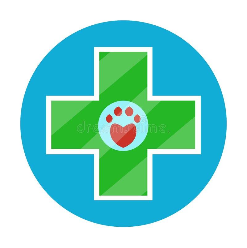 Vet pet pharmacy stock illustration