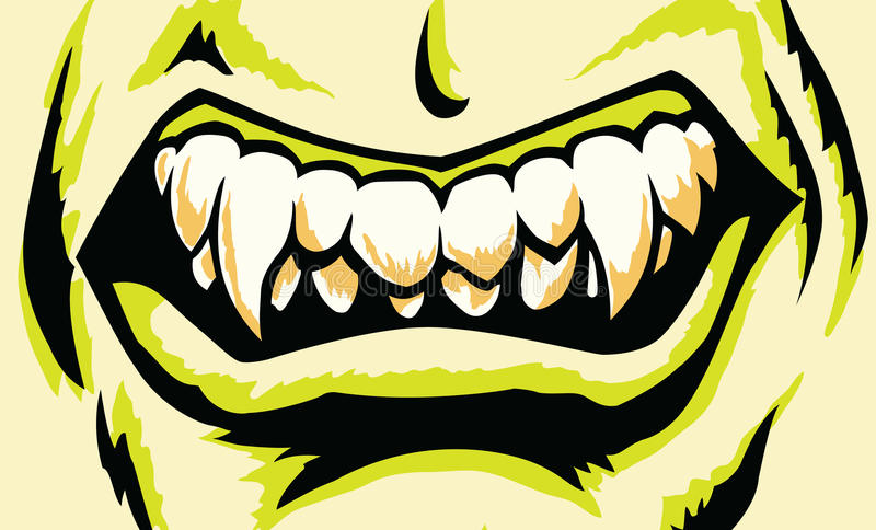 Download Stylized Monster mouth stock vector. Illustration of snarling - 18339813