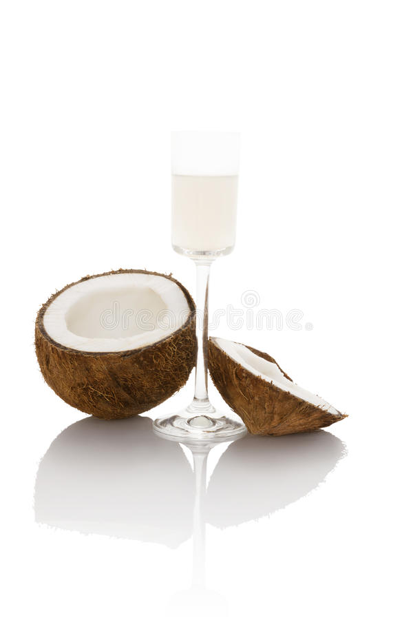 stylized olja för kokosnötdroppillustration royaltyfria bilder