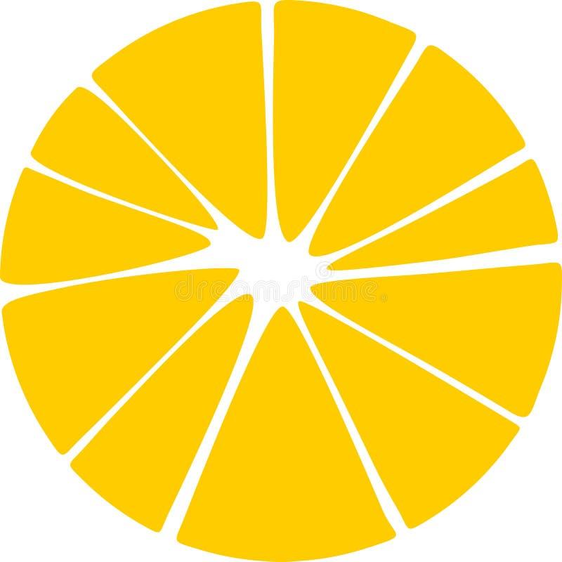 Free Stylized Orange Slice Royalty Free Stock Photo - 118306085