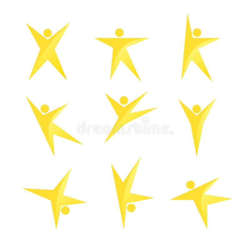 Download Stylized Peoples In Yellow Color Stock Vector - Image: 10650136