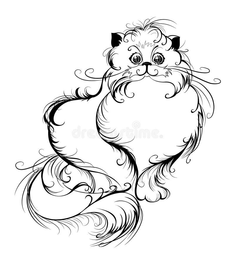 Download Stylized Persian cat stock vector. Illustration of animal - 16951758